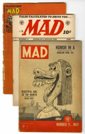 Golden Age (1938-1955):Miscellaneous, EC Comics Mad and Panic Group (EC, 1954) Condition: Average FR/GD.... (Total: 7 Comic Books)