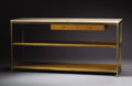 Furniture : American, PAUL MCCOBB (American, 1917-1969). A Laminated Wood, Brass, andTravertine Top Credenza, circa 1956. 29-1/2 x 60-1/4 x 19-1/...(Total: 2 Items)