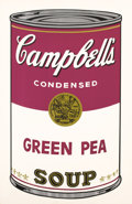 Fine Art - Work on Paper:Print, ANDY WARHOL (American, 1928-1987). Campbell's Soup: GreenPea, 1968. Screenprint in colors. Ed. 11/250. Signed verso:...