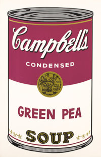 ANDY WARHOL (American, 1928-1987) Campbell's Soup: Green Pea, 1968 Screenprint in colors Ed. 11/2
