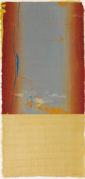 Fine Art - Work on Paper:Print, HELEN FRANKENTHALER (American, b. 1928). Essence Mulberry,1977. Woodcut in colors. Ed. 37/46. Signed lower right:Fra...