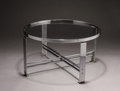 Furniture , WOLFGANG HOFFMANN (1900-1969). A Chrome Plated Metal and Glass Coffee Table, model no. 803, manufactured by Howell USA, circ... (Total: 2 Items)