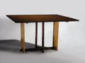 Furniture : American, RUSSEL WRIGHT (American, 1904-1976). A Maple Dining Table, circa1935. 30 x 50 x 23 inches (76.2 x 127 x 58.4 cm) closed. ...