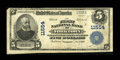 National Bank Notes:Virginia, Yorktown, VA - $5 1902 Plain Back Fr. 607 The First NB Ch. # 11554. ...