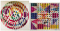 Fine Art - Work on Paper:Print, YAACOV AGAM (Israeli, b. 1928). Abstract Sphere andAbstract Square (a pair). Agamograph. Ed. 84/99 and 74/99.Signe... (Total: 2 Items)