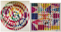 YAACOV AGAM (Israeli, b. 1928) Abstract Sphere and Abstract Square (a pair) Agamograph