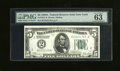 Small Size:Federal Reserve Notes, Fr. 1951-B $5 1928A Federal Reserve Note. PMG Choice Uncirculated 63.. ...