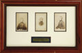Photography:CDVs, Union General Joseph Hooker Group of Three Framed Brady Cartes de Visite Framed Together. Each of the three images i...