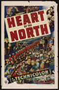 """Movie Posters:Adventure, Heart of the North (Warner Brothers, 1938). One Sheet (27"""" X 41"""").Adventure. Starring Dick Foran, Gloria Dickson, Gale Page..."""
