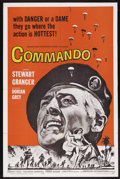 "Movie Posters:War, Commando (American International, 1964). One Sheet (27"" X 41"").War. Starring Stewart Granger, Dorian Gray, Carlos Cassaravi..."