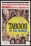 "Movie Posters:Documentary, Taboos of the World (American International, 1963). One Sheet (27"" X 41""). Documentary. Starring Laila Novak, Vincent Price..."