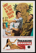 "Movie Posters:Adventure, The Treasure of Makuba (Producers Releasing Organization, 1967).One Sheet (27"" X 41""). Adventure. Starring Cameron Mitchell..."