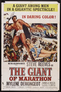 "Movie Posters:Adventure, The Giant of Marathon (MGM, 1960). One Sheet (27"" X 41"").Adventure. Starring Steve Reeves, Mylene Demongeot, Daniela Rocca..."