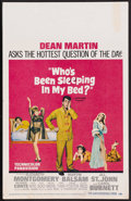 "Movie Posters:Comedy, Who's Been Sleeping in My Bed? (Paramount, 1963). Window Card (14"" X 22""). Comedy. Starring Dean Martin, Elizabeth Montgomer..."
