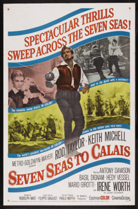 "Seven Seas to Calais (MGM, 1962). One Sheet (27"" X 41""). Adventure. Starring Rod Taylor, Keith Michell, Irene..."