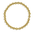 Estate Jewelry:Necklaces, Gold Necklace. The necklace is composed of 14k yellow gold beadsmeasuring 14.00 mm, forming a single strand. Gross weight...