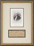 "Autographs:U.S. Presidents, [George Washington] Robert Spring Forged Check. One page, 6.25"" x2.5"", Mount Vernon, August 27, 1798. This check was writte..."