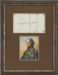 "Autographs:Non-American, Horatio Nelson Autograph Letter Signed. Four integral pages,written on pages one and two and addressed on page four, 6"" x 7..."