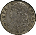 Bust Dimes: , 1834 10C Small 4 AU58 NGC. NGC Census: (34/153). PCGS Population(22/84). Mintage: 635,000. Numismedia Wsl. Price for NGC/P...
