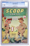 Golden Age (1938-1955):Superhero, Scoop Comics #1 (Chesler, 1941) CGC FN/VF 7.0 Cream to off-white pages....