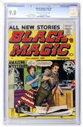 Silver Age (1956-1969):Horror, Black Magic V6#6 (Prize, 1958) CGC VF/NM 9.0 Cream to off-whitepages....