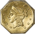 California Fractional Gold, 1853 $1 Liberty Octagonal 1 Dollar, BG-531, R.4, MS63 PCGS....