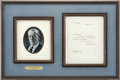 "Autographs:U.S. Presidents, Woodrow Wilson Typed Letter Signed as the twenty-eighth president.One page, 7"" x 8.75"", December 2, 1916, Washington. On Wh..."