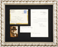 "Autographs:Non-American, Winston Churchill Signature, ""Winston S. Churchill"". One page, 4"" x 1.75"", n.d., n.p.. The signature is sold wit..."
