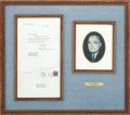 "Autographs:U.S. Presidents, Harry Truman Typed Letter Signed on White House letterhead. Onepage, 7"" x 8.75"", April 23, 1947, thanking Harry G. Hoffman ..."