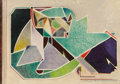 Fine Art - Work on Paper:Watercolor, WILL HENRY STEVENS (American, 1881-1949). Abstract Composition, 1938. Mixed media on paper. Signed lower right: Steven...