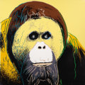 Fine Art - Work on Paper:Print, ANDY WARHOL (American, 1928-1987). Orangutan, 1983.Published in the portfolio Endangered Species. Screenprintin co...