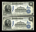 National Bank Notes:Pennsylvania, Mauch Chunk, PA - $20 1902 Plain Back Fr. 650 The Mauch Chunk NBCh. # (E)6534.. ... (Total: 2 notes)