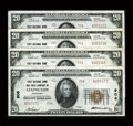 National Bank Notes:Kentucky, Lexington, KY - $20 1929 Ty. 2 First NB & TC Ch. # 906 FourExamples. ... (Total: 4 notes)