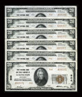 National Bank Notes:Kentucky, Lexington, KY - $20 1929 Ty. 2 First NB & TC Ch. # 906 SixExamples. ... (Total: 6 notes)
