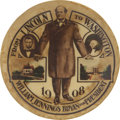 Political:Pinback Buttons (1896-present), William Jennings Bryan: One of the Most Desirable 1908 William Jennings Bryan Buttons....