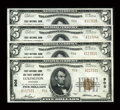 National Bank Notes:Kentucky, Lexington, KY - $5 1929 Ty. 2 First NB & TC Ch. # 906 FourExamples. ... (Total: 4 notes)