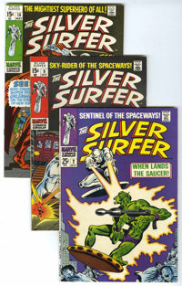The Silver Surfer Group (Marvel, 1968-70) Condition: Average FN/VF.... (Total: 4 Comic Books)