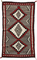 American Indian Art:Weavings, A NAVAJO REGIONAL RUG . Ganado. c . 1940 . ...