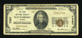 National Bank Notes:Virginia, Waynesboro, VA - $20 1929 Ty. 1 The First NB Ch. # 7587. ...