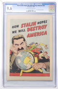 Golden Age (1938-1955):Non-Fiction, How Stalin Hopes We Will Destroy America #nn (Joe Lowe Co., 1951)CGC NM+ 9.6 Off-white to white pages....