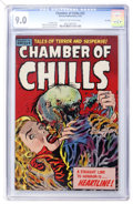 Golden Age (1938-1955):Horror, Chamber of Chills #23 File Copy (Harvey, 1954) CGC VF/NM 9.0 Creamto off-white pages....