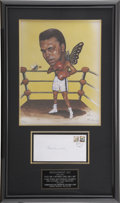 Boxing Collectibles:Autographs, Muhammad Ali Signed Display with Limited Edition Art....