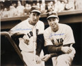 Autographs:Photos, Joe DiMaggio and Ted Williams Dual-Signed Oversized Photograph....