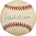 Autographs:Baseballs, Hank Aaron Single Signed Baseball....