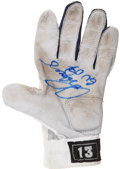 Baseball Collectibles:Others, 2007 Alex Rodriguez Game Worn and Signed Batting Glove....