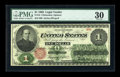 Large Size:Legal Tender Notes, Fr. 16 $1 1862 Legal Tender PMG Very Fine 30....