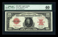 Large Size:Legal Tender Notes, Fr. 123 $10 1923 Legal Tender PMG Extremely Fine 40....