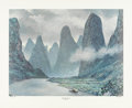 Prints, TOM LEA (American, 1907-2001). The River Li, 1984. Print. 24-1/2 x 30 inches (62.2 x 76.2 cm). Ed. 95/215. Signed, dated...