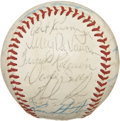 Autographs:Baseballs, 1973 California Angels Team Signed Baseball....