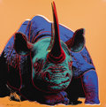 Fine Art - Work on Paper:Print, ANDY WARHOL (American, 1928-1987). Black Rhinoceros, 1983.Published in the portfolio Endangered Species. Screenprin...